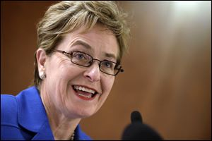 Rep. Marcy Kaptur, D-Ohio, seen here on Capitol Hill earlier this year, was among those in attendance at a candidates forum Tuesday night. Her Republican challenger, Samuel Wurzelbacher, did not respond to an invitation to the forum.