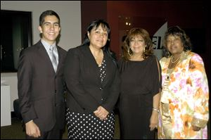 Diamante Award recipients, from left: Alberto Serrano-Chavez, Cynthia Geronimo, Sue Cuevas, and Celeste Taylor.