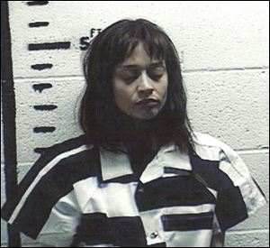 Fionna Apple after being arrested for hashish possession in Sierra Blanca after a Border Patrol drug-sniffing dog detected marijuana in her tour bus.
