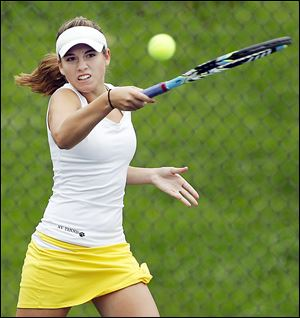 Megan Miller of Northview captured her third straight individual title at No. 1 singles in Northern Lakes League play.
