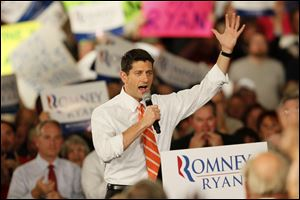 Vice Presidential Candidate Paul Ryan greets his Lima supporters at the Veterans Memorial Civic and Convention Center in Lima, Ohio.