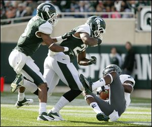 Michigan State's defense ranks sixth nationally in yards allowed per game.