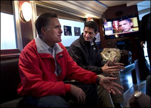 Republican presidential candidate Mitt Romney was joined by vice presidential running mate Rep. Paul Ryan, R-Wis., Tuesday in Vandalia, Ohio.