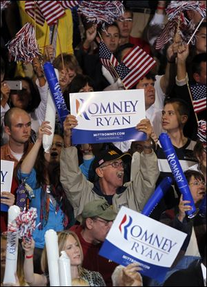 Romney supporters showed their approval of their candidate Wednesday.