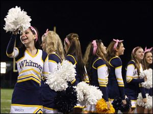 Whitmer cheerleaders.