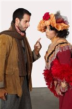 Lee-Poulis-left-as-Marcello-and-Jennifer-Rowley-as-Muscetta-in-La-Boheme
