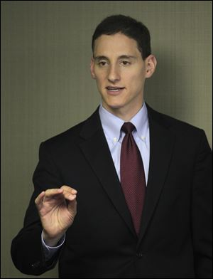 Republican Josh Mandel speaks to supporters Tuesday in Cleveland.