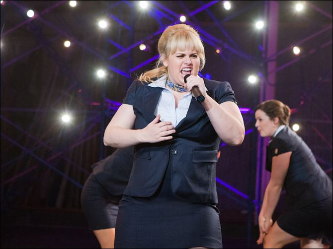 "Rebel Wilson portraying Fat Amy in a scene from her film ""Pitch Perfect."""
