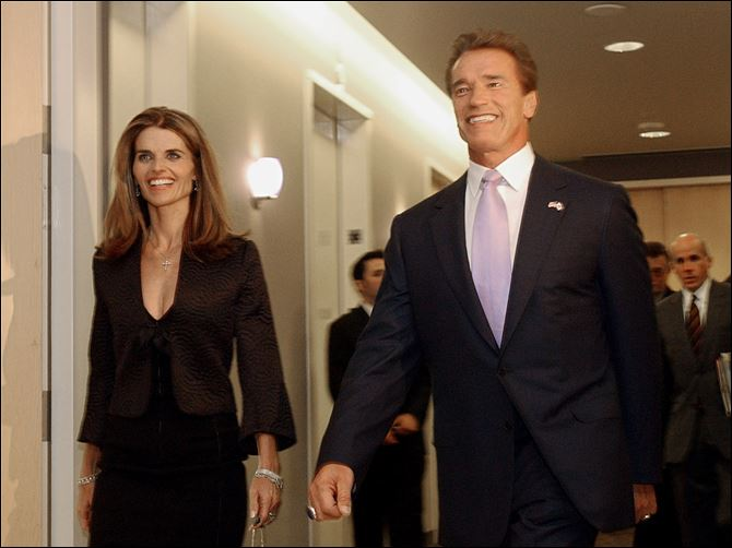 "Schwarzenegger says the affair he had with longtime housekeeper Mildred Baena, that led to a son, was ""the stupidest thing"", he ever did to then-wife Maria Shriver, at left here."