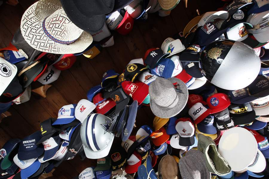 Hats-hang-from-the-garage