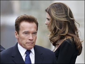 Maria Shriver, right, and her husband, actor and former California Gov. Arnold Schwarzenegger.