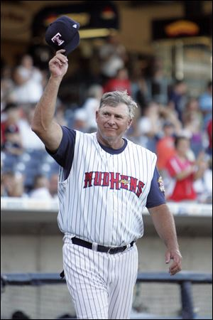 Former Toledo Mud Hens manager Larry Parrish in 2010.