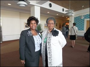 Mary Price, left, stands with Wilma Brown, who was honored at the Girl Scouts of Western Ohio 100 Women of Influence.