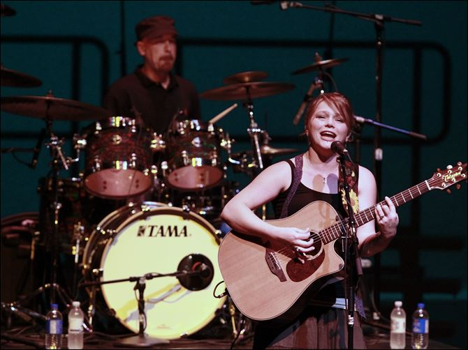 Crystal Bowersox performs last year at the Valentine Theatre in Toledo.