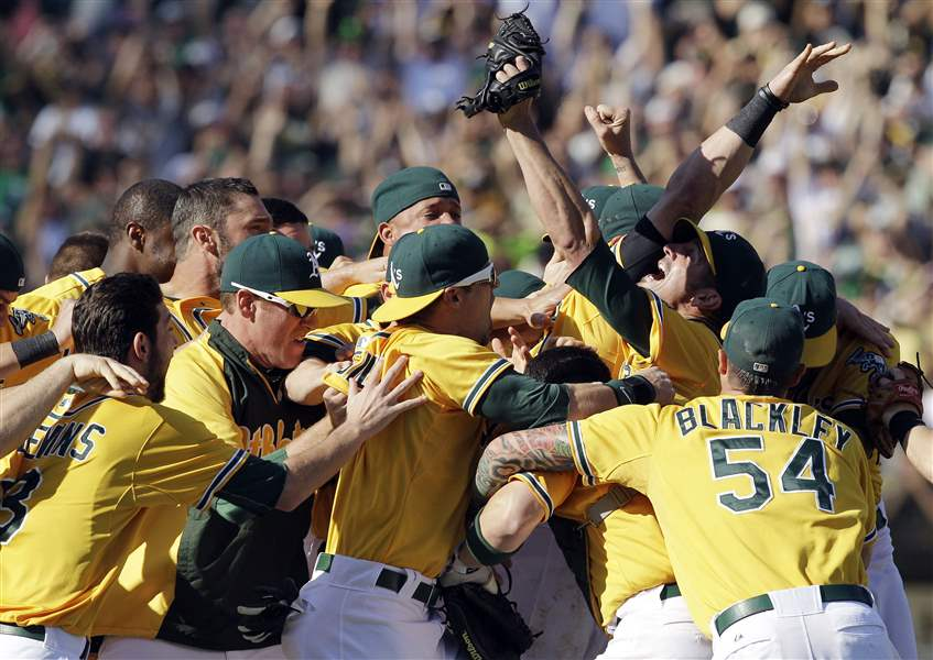 Rangers-Athletics-Baseball-Jubilation