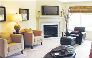 The interior of the Edgebrook Villas model home is shown here.