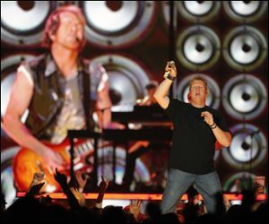 Gary LeVox looks for some help from the crowd in singing.
