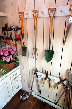 Organizing your tools and pots inside can go a long way in helping you spend more time using them outside.