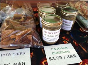 Sitto's Pastries also offers pita chips and fatoosh dressing at the Perrysburg Farmers Market.
