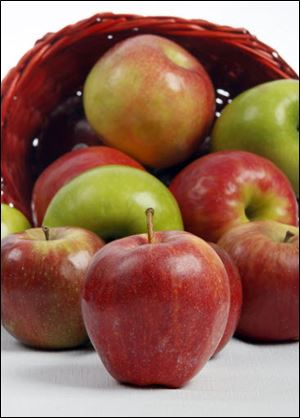 A variety of apples are available to consumers.