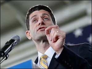 During his speech Mr. Ryan emphasized the nation's debt situation.