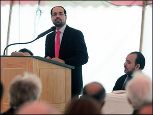 Nihad Awad, executive director of the Council on American-Islamic Relations, urges congregants to speak out against Islamophobia.