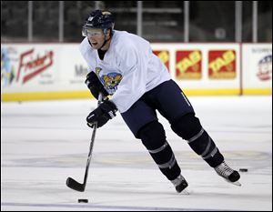 Randy Rowe, 32, who has played in 662 pro games (561 of them in the ECHL) is back with the Walleye.