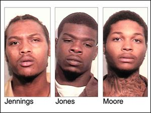 Keshawn Jennings, 20, Antwaine Jones, 18, and James Moore, 20, have all been indicted with murder charges in connection with a shooting at Moody Manor that killed a 1-year-old girl and injured a 2-year-old girl.