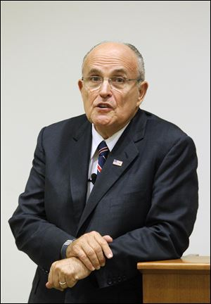 """We need a United States senator from Ohio who is going to represent the real interests of Ohio ... not just the left wing agenda of the United States Senate,"" Mr. Giuliani said."