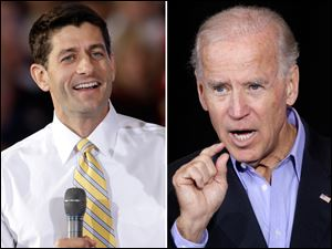 Paul Ryan, left, and Joe Biden.