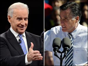 Vice President Joe Biden, left, and GOP presidential candidate Mitt Romney.