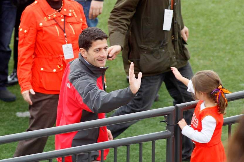 Paul-Ryan-BGSU-high-five
