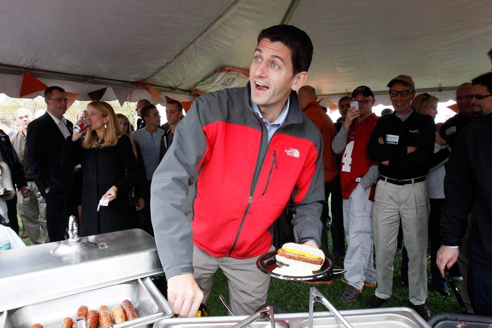 Paul-Ryan-BGSU-bratwurst