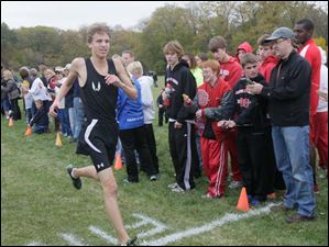 Sylvania Northview's Kyle Brooks finished first in the boys race.