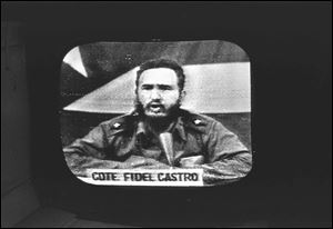 Cuban Prime Minister Fidel Castro replies to President Kennedy's naval blockade via Cuban radio and television on October 23, 1962.   To defuse the Cuban missile crisis, President Kennedy promised not to invade the island nation, but newly declassified documents show he later retreated from the pledge, fearing Cuba