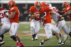 Bowling Green running back John Pettigrew scored two touchdowns in the win.