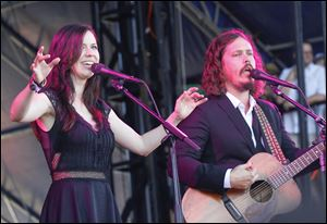 John Paul White and Joy Williams of The Civil Wars perform at the Austin City Limits Music Festival on Sunday.