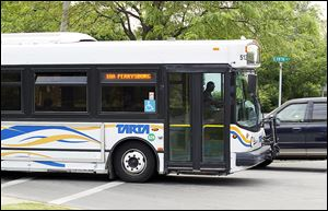 The transit debate  should be about how TARTA buses such as this one can service other places in northwest Ohio.