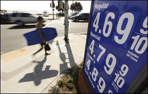 High gas prices in California drove up U.S. consumer prices in September for the second straight month.