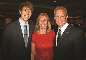 Carson, Barb and Randy Oostra at the Grand Illusions dinner for Ohio Cancer Research at the Grand Plaza Hotel.