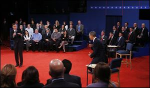 The town hall was the second of three debates between the two candidates.