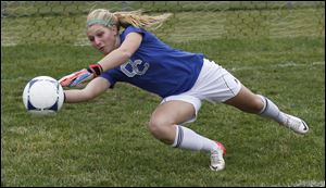 Clay junior goalkeeper Alyssa Heintschel had five shutouts in TRAC games. The Eagles are 8-6-2, 6-1-0 in the TRAC.