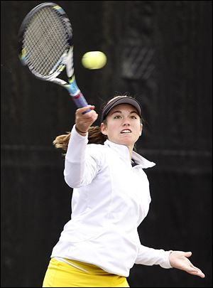 Northview junior Megan Millerwon her opening match versus Ashley Tan of Dublin Coffman 6-3,6-4.
