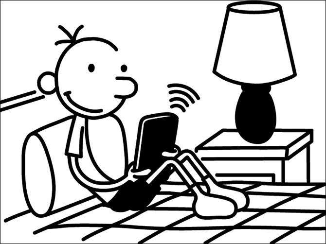 Books Digital Diary of a Wimpy Kid EBOOK Creator Jeff Kinney, a major e-holdout among children's authors, has agreed to make his illustrated, top-selling series about middle schooler Greg Heffley, seen in this illustration, available electronically.