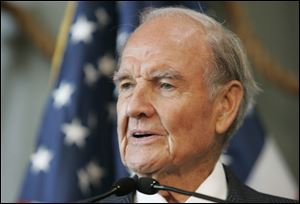 Former Sen. George McGovern delivers remarks at the National World War II Museum in New Orleans.