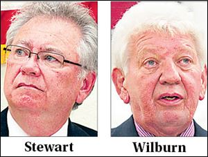 Republican Greg Stewart, left, will run against incumbent Walt Wilburn.