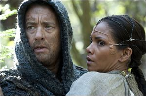 Tom Hanks as Zachry and Halle Berry as Meronym in a scene from