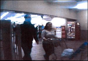 Screen grab  from a store surveillance video.