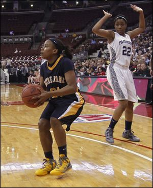 Cat Wells, seen here playing for Notre Dame, has been removed from the University of Toledo women's basketball team.
