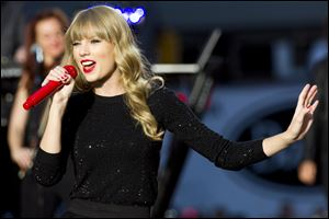 Taylor Swift performs on ABC's 'Good Morning America' Tuesday.
